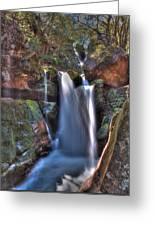 Scotish Waterfall Hdr Greeting Card