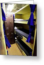 Seaman Lockers And Bunks Aboard Uss Greeting Card