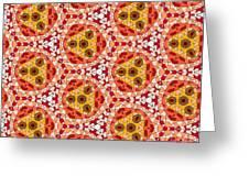 Seamlessly Tiled Kaleidoscopic Mosaic Pattern Greeting Card