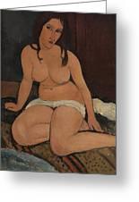 Seated Nude Greeting Card