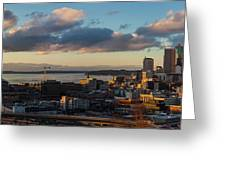 Seattle Dusk Greeting Card