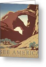 See America Poster, C1937 Greeting Card