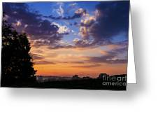 September Mountain Sunrise Greeting Card