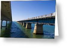 Seven Mile Bridge Florida Keys Greeting Card
