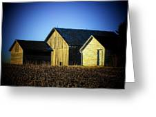 3 Sheds Greeting Card by Michael L Kimble