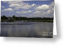 Sweet Balmy Breeze On Shem Creek Greeting Card