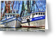 Shrimp Boats Season Greeting Card