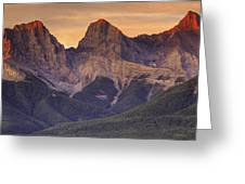 3 Sisters Canmore Alberta Greeting Card