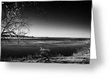 south Saskatchewan river near saskatoon Canada Greeting Card