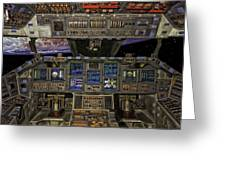 Space Shuttle Cockpit Greeting Card