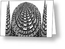 Sparkle Bnw White Pyramid Dome Ancient Arch Architecture Formation Obtained During Deep Meditation W Greeting Card
