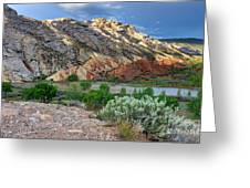 Spring Storm Over Split Mountain Dinosaur National Monument Greeting Card