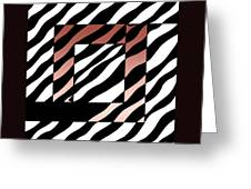 3 Squares With Ripples Greeting Card
