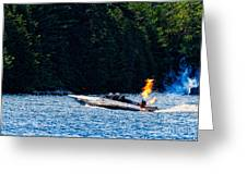 Squirt 2 Turbine Jet Boat Greeting Card