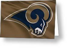 St Louis Rams Uniform Greeting Card