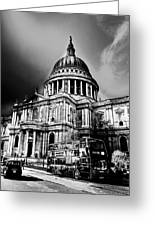 St Pauls Cathedral London Art Greeting Card by David Pyatt