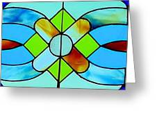 Stained Glass Window Greeting Card by Janette Boyd