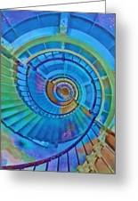 Stairway To Lighthouse Heaven Greeting Card