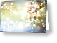 Starry Background Greeting Card
