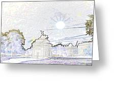 Statue Of Angel Of Peace Atop The Wellington Arch Greeting Card