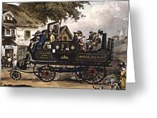 Steam Carriage Greeting Card