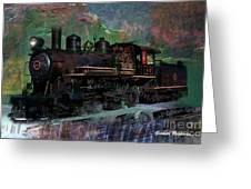 Steam Locomotive Greeting Card by Gunter Nezhoda