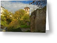 Street In Historic Albaycin In Granada Greeting Card