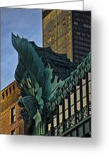 3 Styles Of Architecture Telephoto Greeting Card