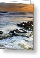 Sunset At The Mediterranean Sea Greeting Card