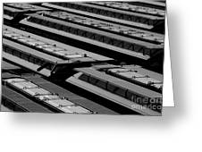 Switch Yard For Box Cars Greeting Card