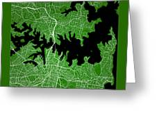 Sydney Street Map - Sydney Australia Road Map Art On Color Greeting Card