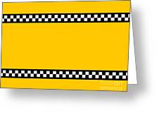 Taxi Background Greeting Card
