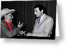 Ted Degrazia Dick Mayers Kvoa Tv Studio Polaroid By News Director Garry Greenberg January 1966 Greeting Card