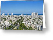 Tel Aviv Israel Elevated View Greeting Card