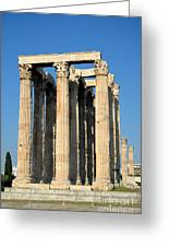 Temple Of Olympian Zeus In Athens Greeting Card