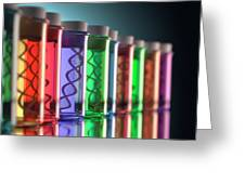 Test Tubes With Dna Greeting Card