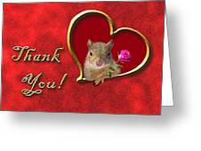 Thank You Squirrel Greeting Card