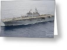 The Amphibious Assault Ship Uss Essex Greeting Card