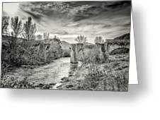 The Ancient Bridge At Ponte Novu In Corsica Greeting Card