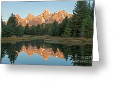 The Grand Tetons Schwabacher Landing Grand Teton National Park Greeting Card
