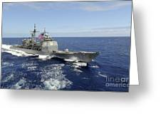 The Guided-missile Cruiser Uss Greeting Card