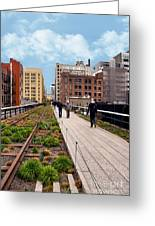 The High Line Urban Park New York Citiy Greeting Card