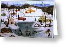 The Ice Pond Greeting Card