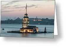 The Maiden's Tower Greeting Card
