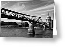 The Millenium Bridge Greeting Card