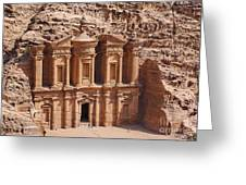 The Monastery At Petra In Jordan Greeting Card