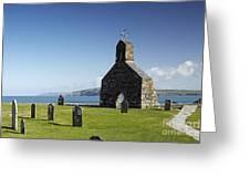 The Ruined Church Of St Brynach At Cwm Yr Eglwys Greeting Card
