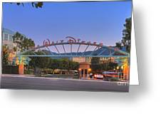 The Walt Disney Company In Burbank Ca. Sunset Greeting Card