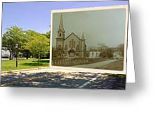 Third Methodist Church On The Commons In Little Compton Rhode Island Greeting Card