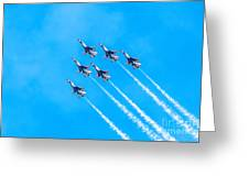 Thunderbirds And Blue Sky  Greeting Card